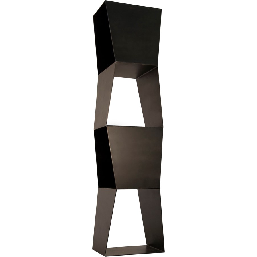 Not-Square Bookcase, Black Metal