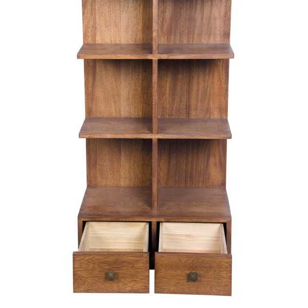 Zip Bookcase, Dark Walnut