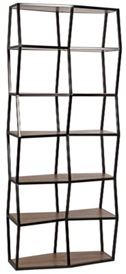 Berlin Bookcase, Walnut and Metal