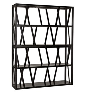 Colfax Bookshelf, Black Metal