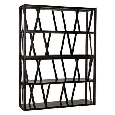 Colfax Bookshelf, Black Metal