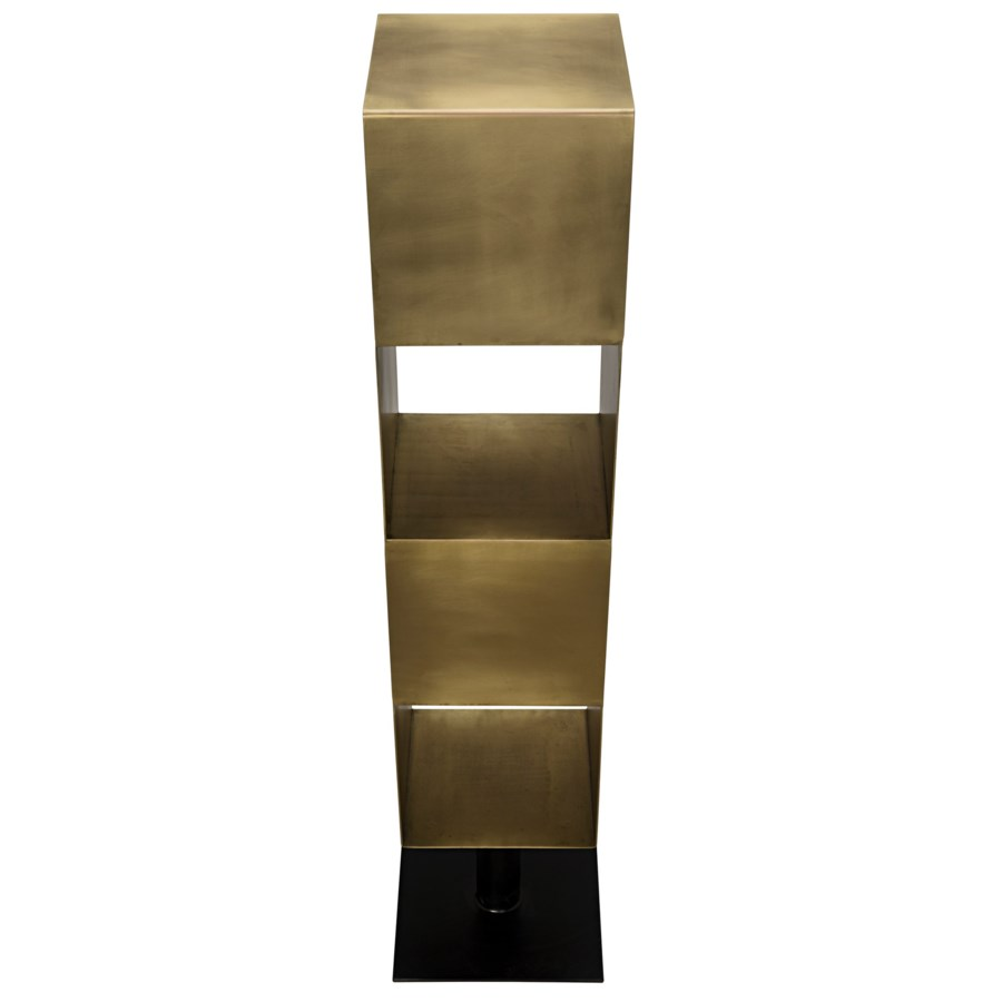 Tara Shelving, Antique Brass