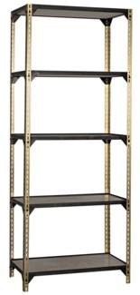 Dario Bookcase, Antique Brass