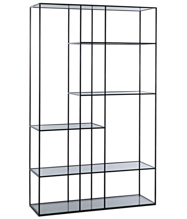 Tulou Shelves, Large, Black Steel