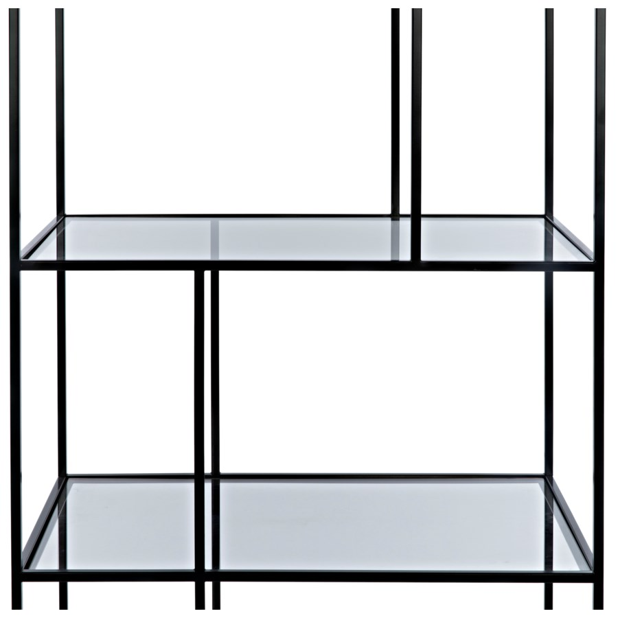 Tulou Shelves, Small, Black Metal