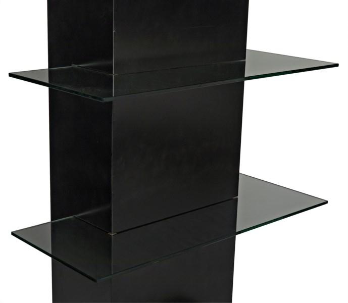 Colombo Shelving, Metal W/Glass