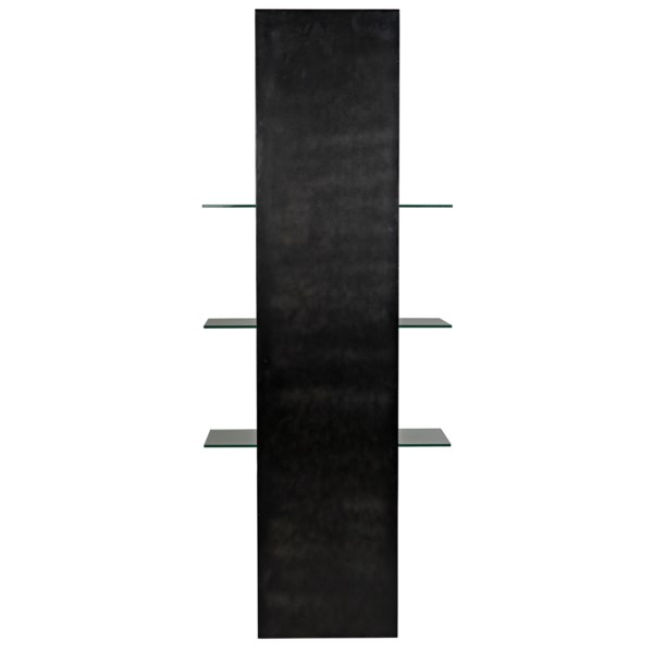 Colombo Shelving, Black Metal with Glass