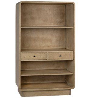 Cortes Bookcase, Bleached Walnut