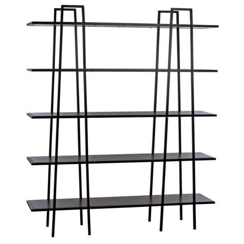 Spider Bookshelf with Black Metal