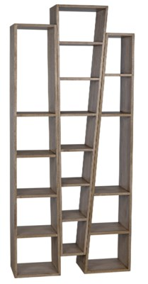 Atica Bookcase, B, Washed Walnut