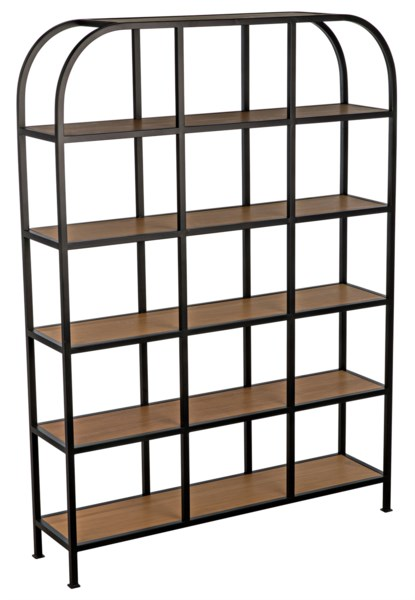 SL08 Bookcase, Gold Teak and Metal