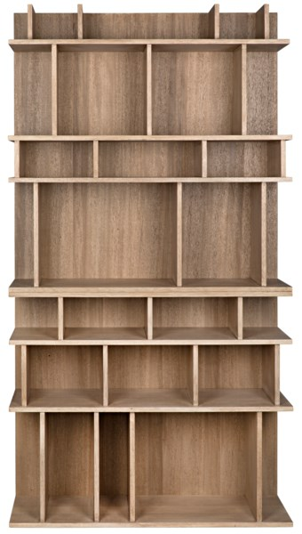Rashi Bookcase, Washed Walnut
