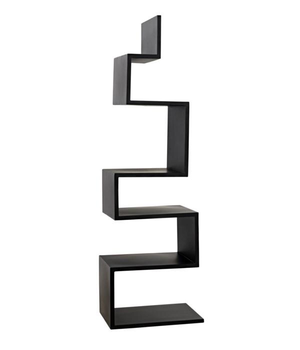 Laszlo Bookcase, Black Steel