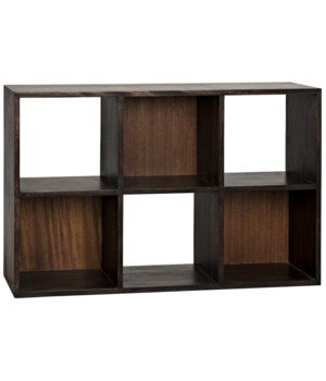 Nico Bookcase, Ebony Walnut