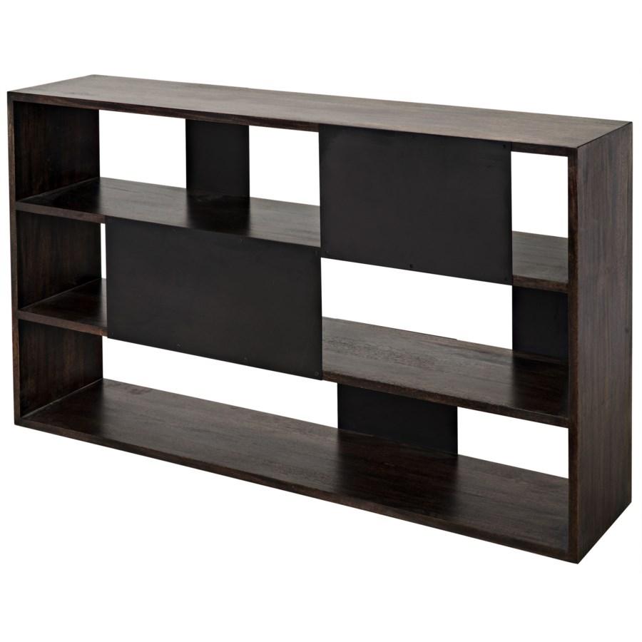 Reed Bookcase, Ebony Walnut w/ METAL