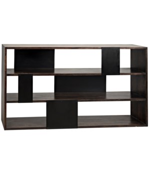 Reed Bookcase, Ebony Walnut w/ METAL