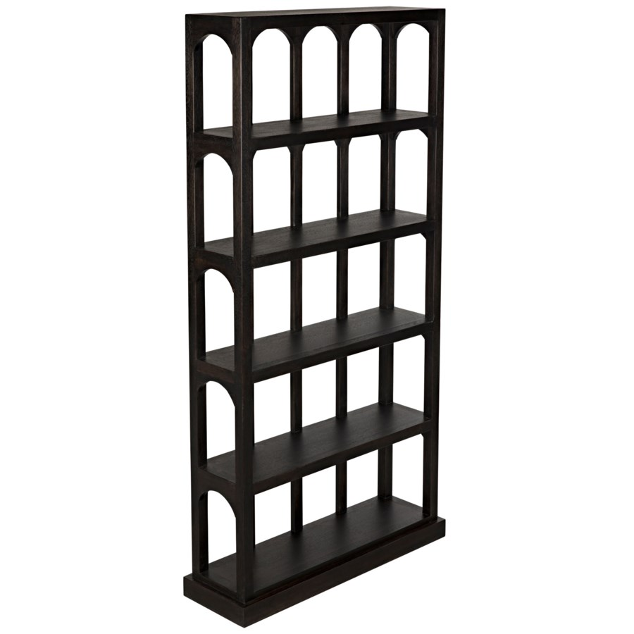Passage Bookcase, Ebony Walnut