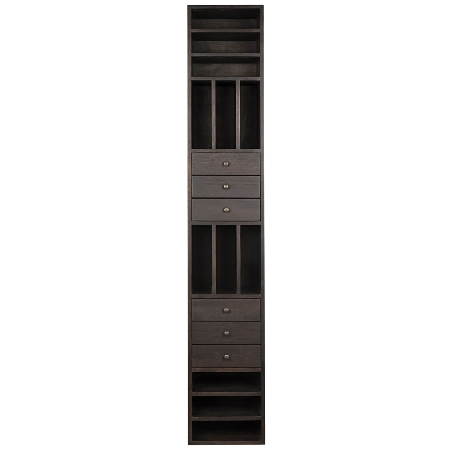 Tubula Bookcase, Ebony Walnut