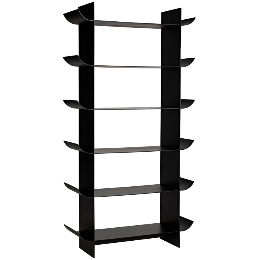 Mano Bookcase, Black Metal