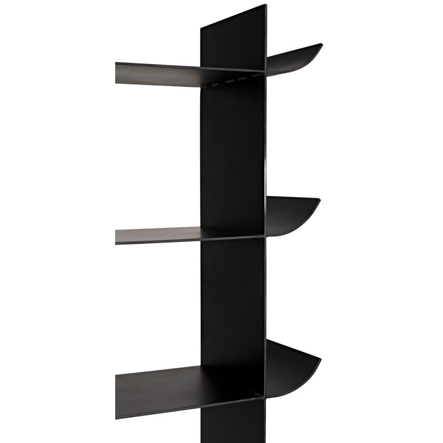 Mano Bookcase, Black Metal