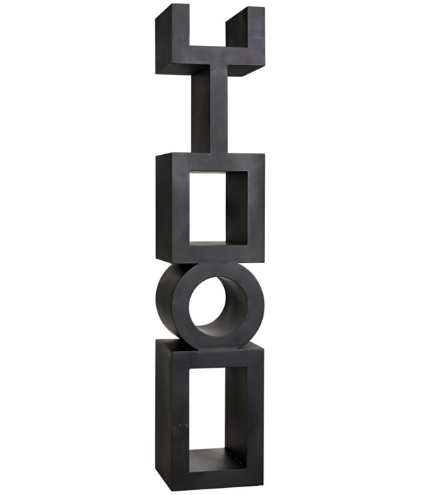 Koko Bookcase, Black Steel