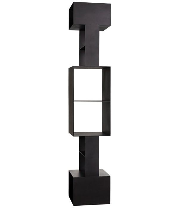 Diem Bookcase, Black Steel