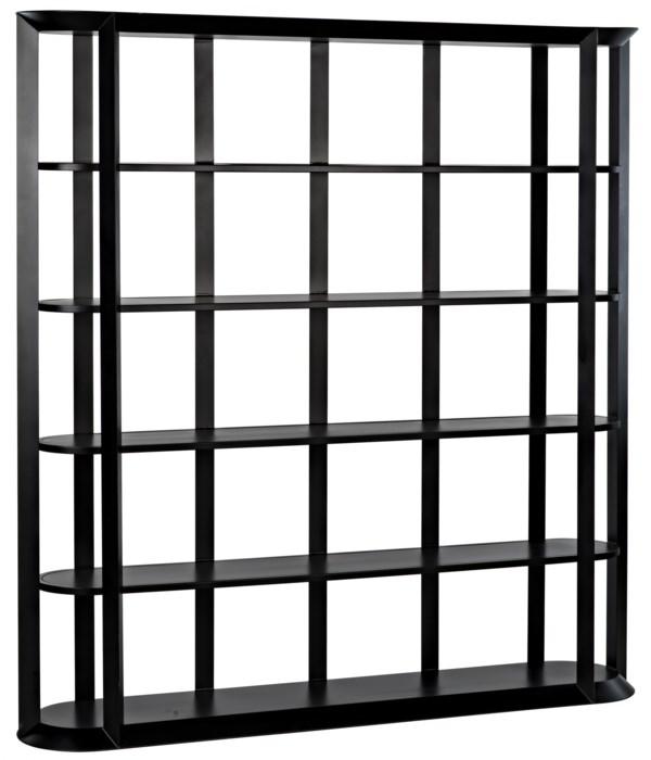 Foster Bookcase, Black Steel