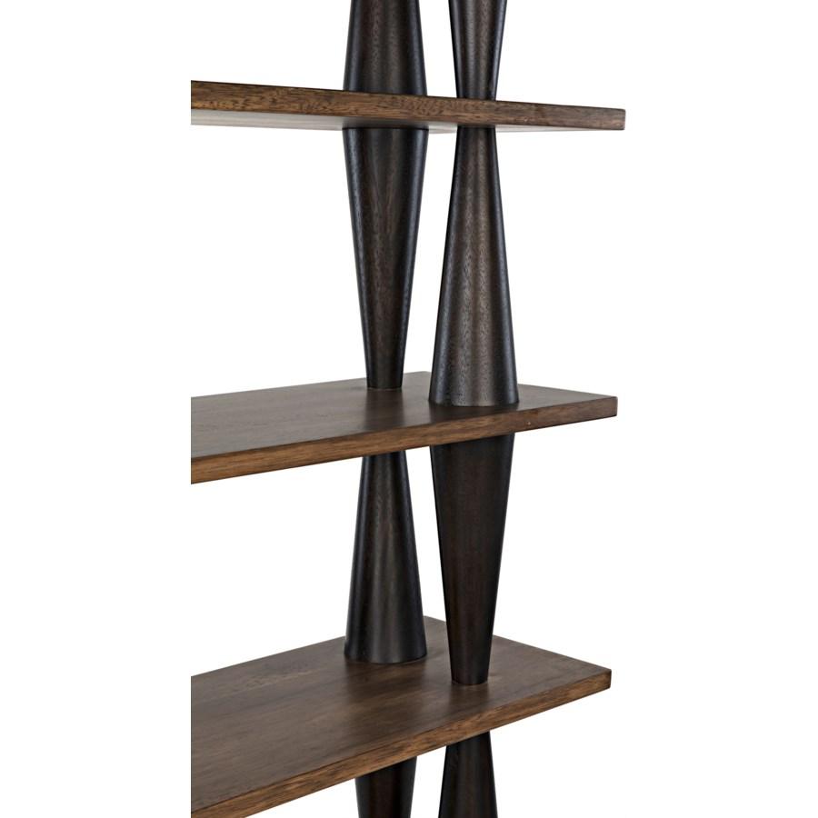Mood Bookcase, Ebony/Dark Walnut