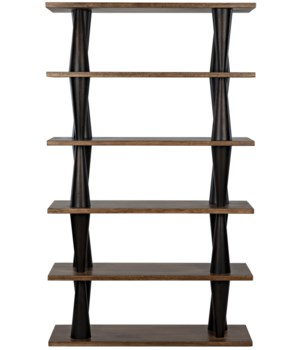 Mood Bookcase, Ebony/Dark Walnut