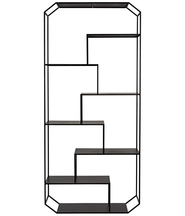 Marquise Bookcase, Black Steel