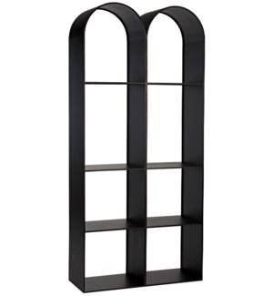Luna Bookcase, Black Steel