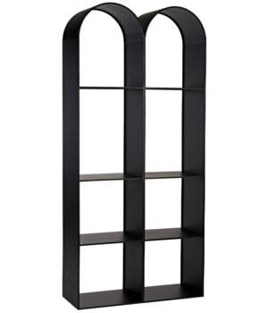 Luna Bookcase, Black Metal