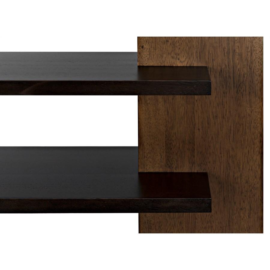 Wright Bookcase, Dark Walnut w/Ebony Walnut
