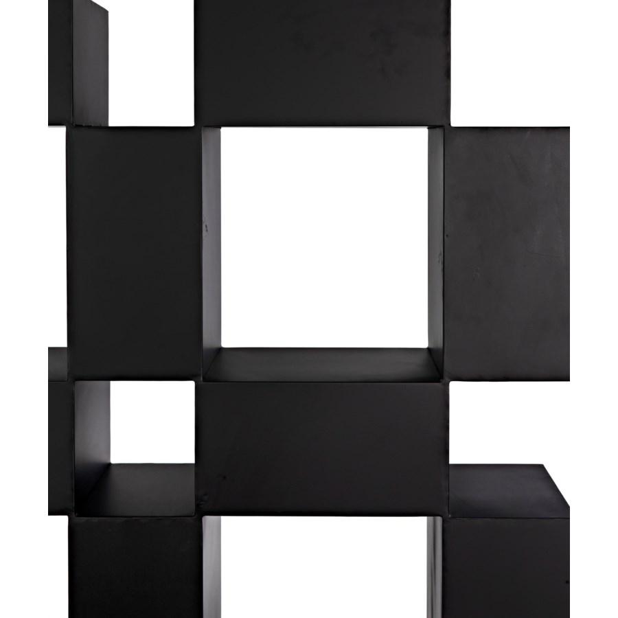 Cubus Bookcase, Black Metal