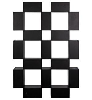 Cubus Bookcase, Black Steel