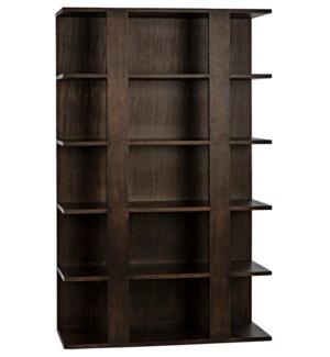 Leiden Bookcase, Ebony Walnut