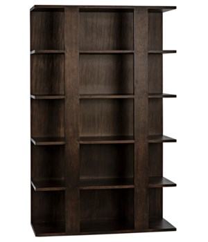 Leiden Bookcase, Ebony Walnut