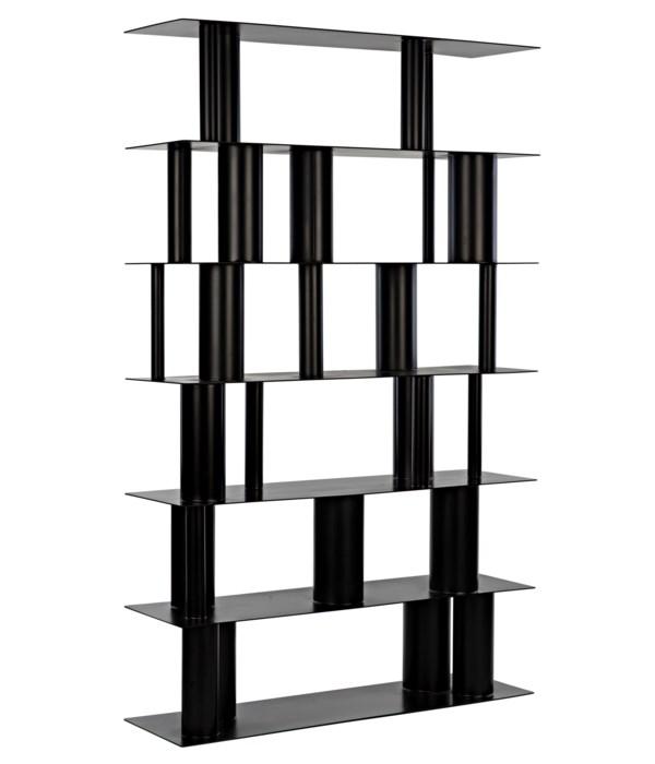 Beck Bookcase, Black Steel