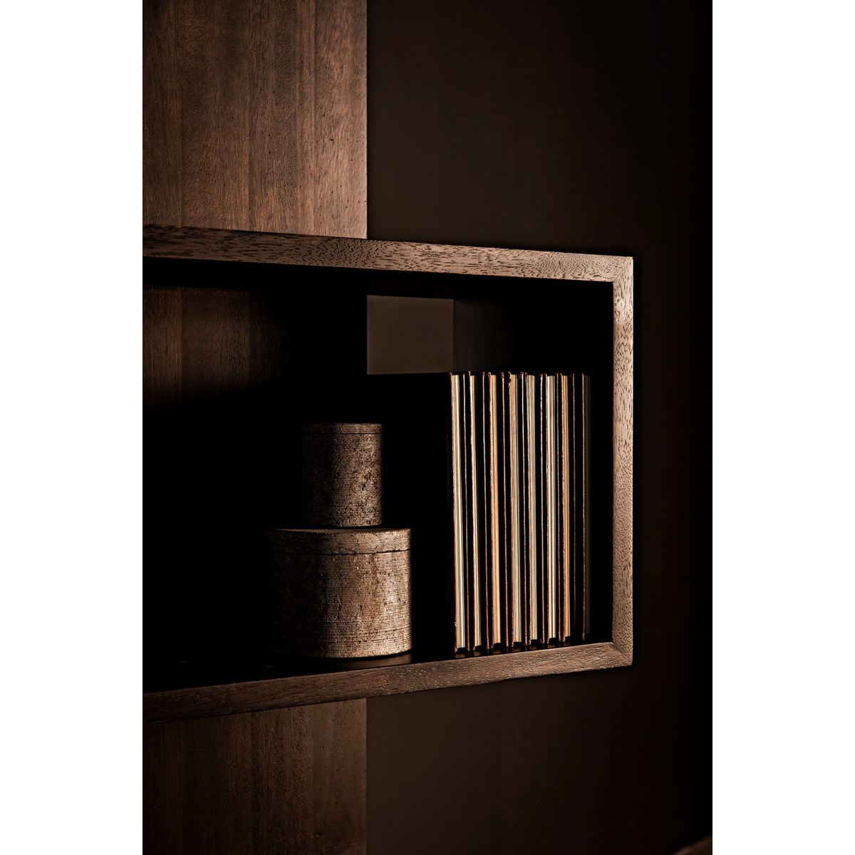 Ocasio Bookcase, Ebony Walnut