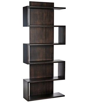 Ocasio Bookcase, Ebony Walnut