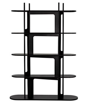 Ochoa Bookcase, Black Metal