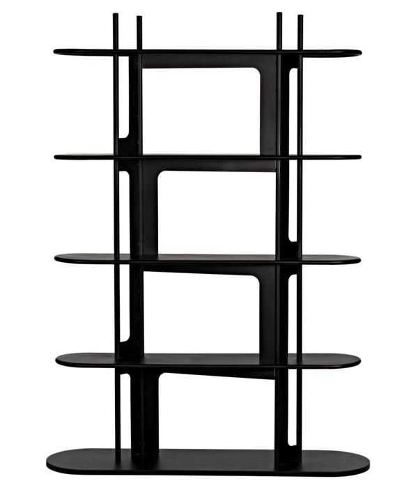Ochoa Bookcase, Black Steel