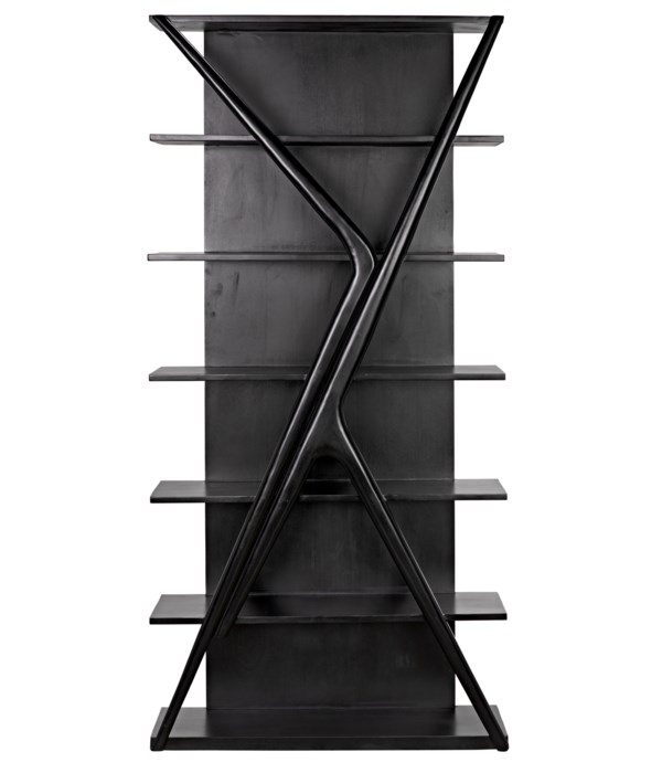 Vetra Bookcase, Hand Rubbed Black