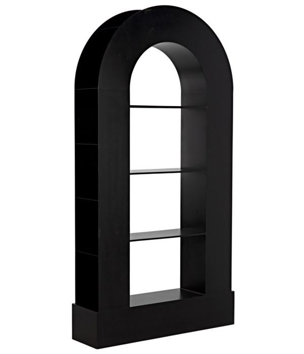 Triumph Bookcase, Black Steel