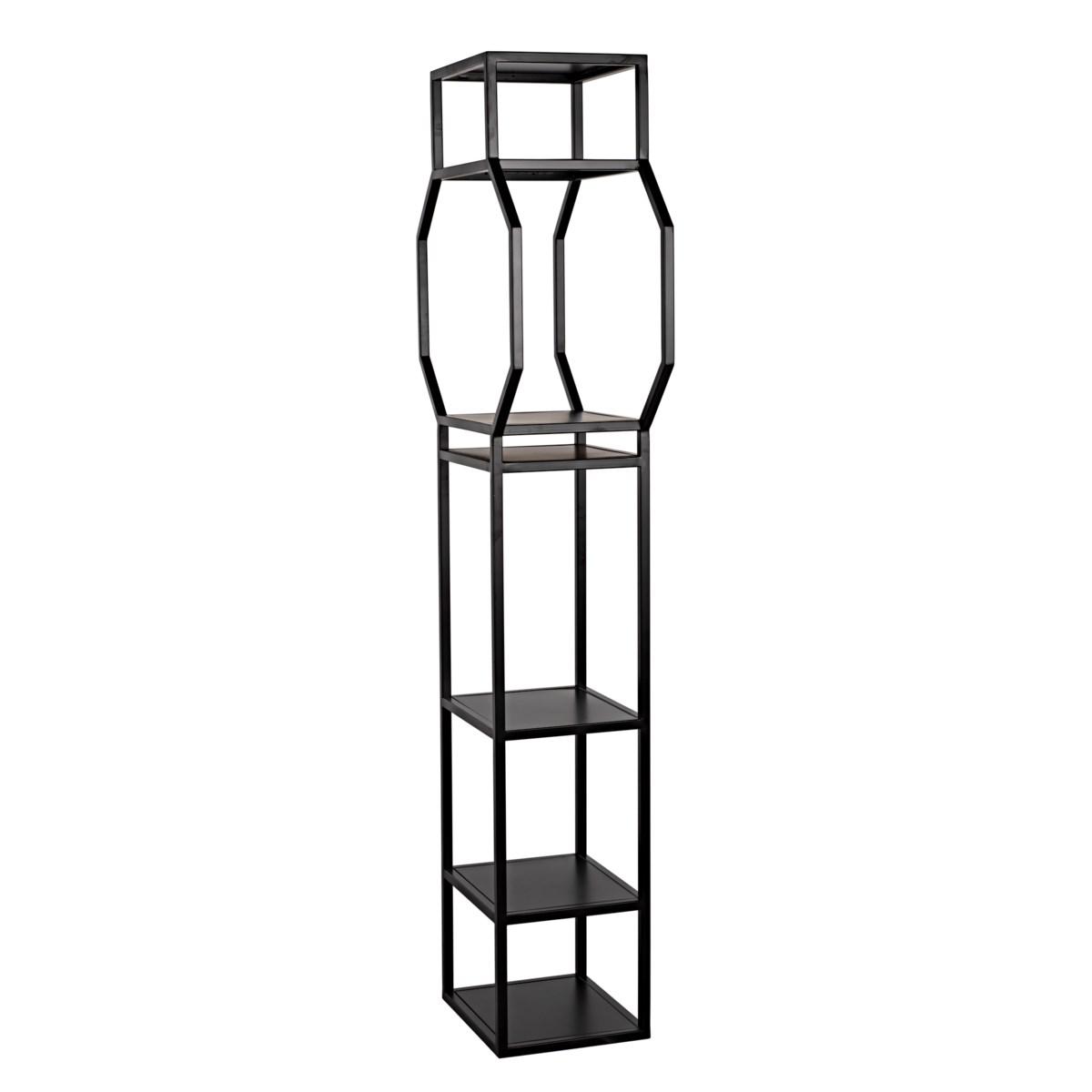 Downtown B Bookcase, Black Metal