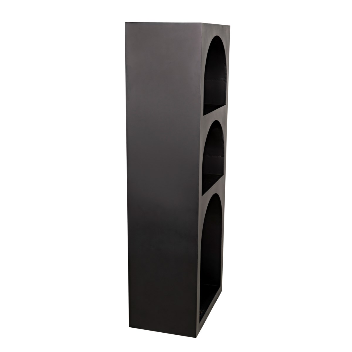 Aqueduct Bookcase, A, Black Metal