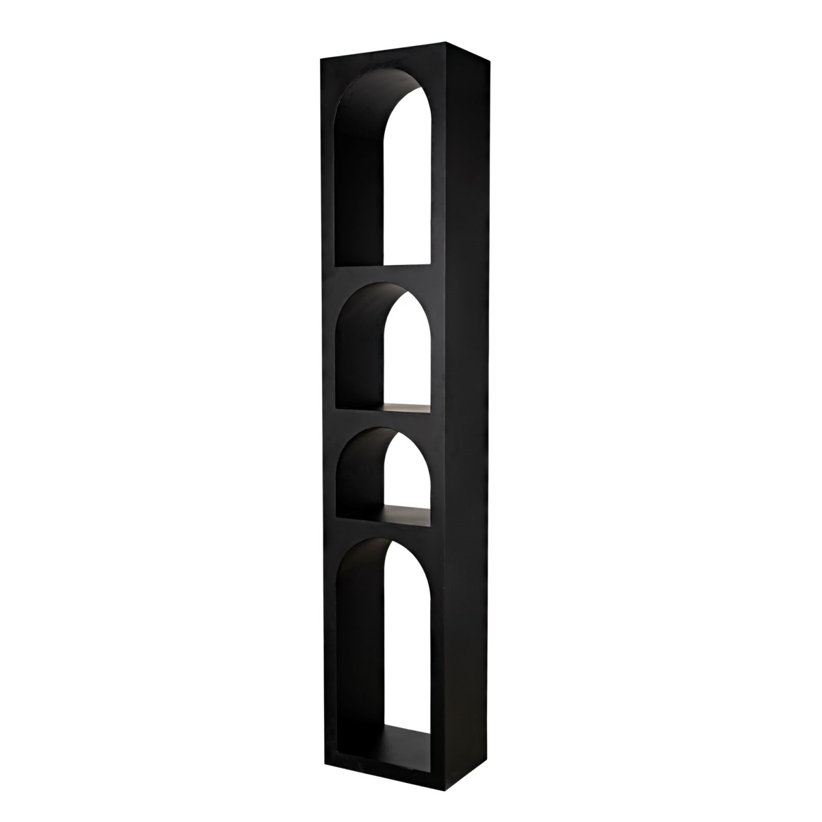 Aqueduct Bookcase, B, Black Metal