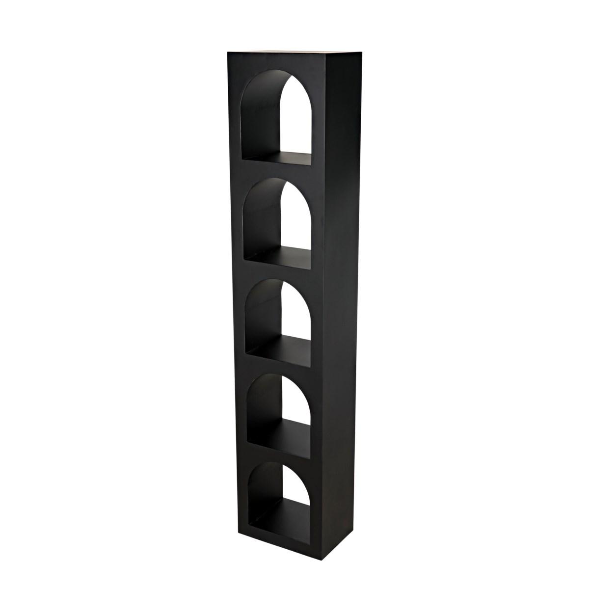 Aqueduct Bookcase, C, Black Metal