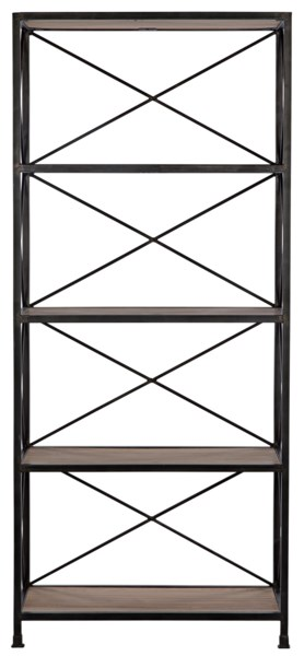 801 Bookcase, Elm and Metal