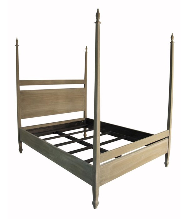 Venice Bed Cal-King, Weathered